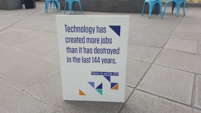 Quote: Technology has created more jobs than it has destroyed in the last 144 years.